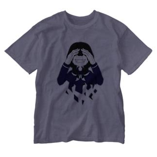 笑え Washed T-shirts