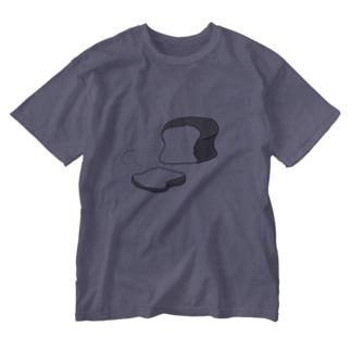 しょくぱんカット Washed T-shirts