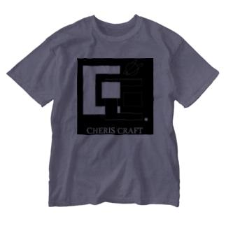 CherisCraftロゴ Washed T-shirts