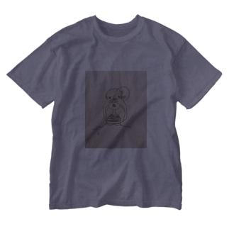 お化けと同棲 Washed T-shirts