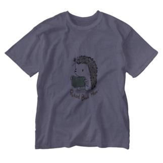 本読みハリネズミ Washed T-shirts