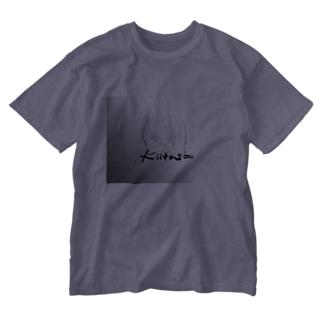 手のひらに花*花 Washed T-shirts