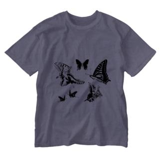 蝶々🦋蝶々🦋蝶々🦋蝶々 Washed T-shirts