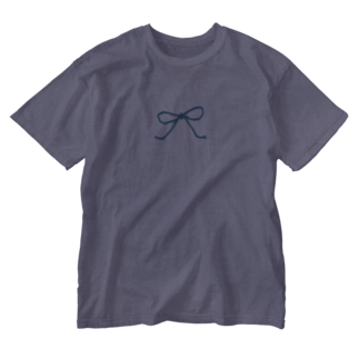 kirin.boutiqueの青いリボン Washed T-shirts