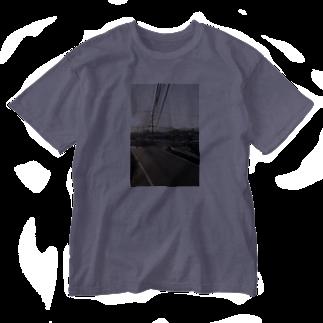 yota____のあの場所① Washed T-shirts