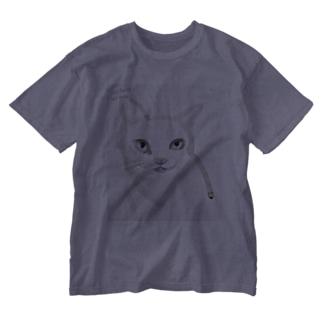 nohatenowar猫 Washed T-shirts