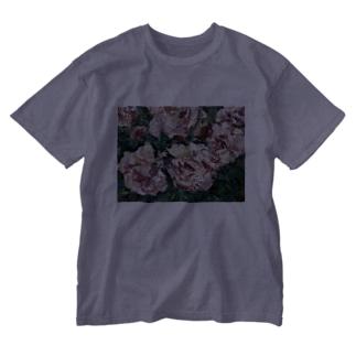 油彩-薔薇- Washed T-shirts