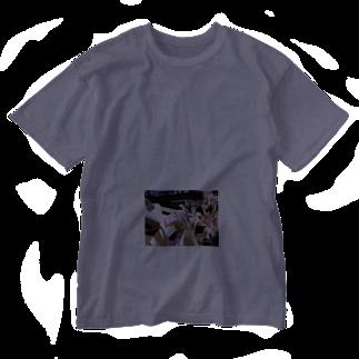 galah_addのこうやって結ぶの Washed T-shirts