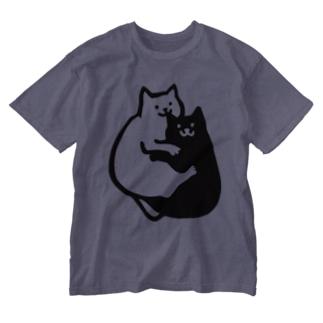 おみみかじりねこ Washed T-shirts