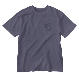 worldwide_02の犬チャウチャウまさかのウサギ色 Washed T-shirts