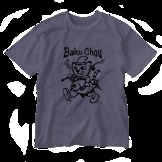 ikeyocraft の爆釣エビスネコ グレ b Washed T-shirts