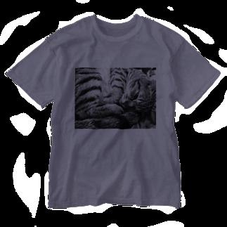 古春一生(Koharu Issey)の微睡みのR(縁なし) Washed T-shirts