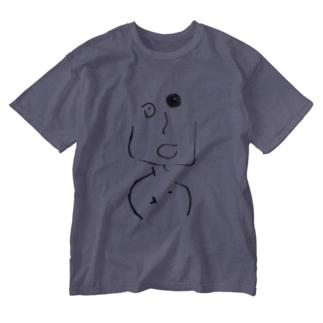 ちくびくん Washed T-shirts
