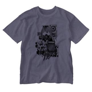 Act Anti Virus Tシャツ モノクロ Washed T-shirts