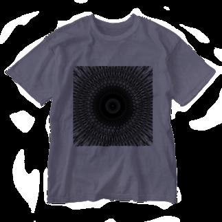 左の幾何学模様 series Washed T-shirts