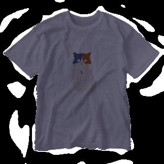 おもち屋さんのおすまし猫(3) Washed T-shirts