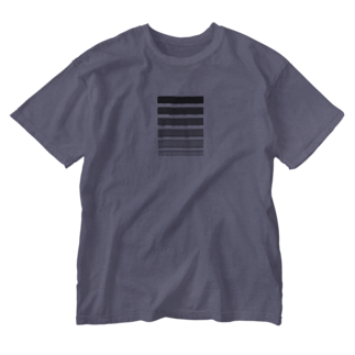 Sorapolice_pinopoliceのストライプモノトーン Washed T-shirts