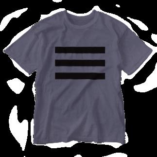 Atomatomのボーダー Washed T-shirts