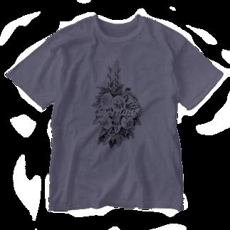 n06uk1のMorning glory on a rainy day Washed T-shirts