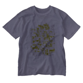 手書き迷路 Washed T-shirts