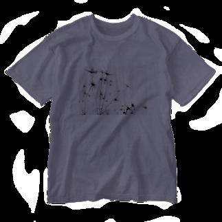 ✁︎___mのFlower Washed T-shirts