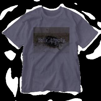 zikomanking SHOPのWalk slowly Washed T-shirts