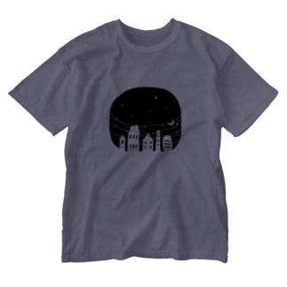 夜の街 Washed T-shirts