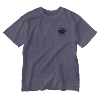ADOMANI ロゴ ライン付き Washed T-Shirt