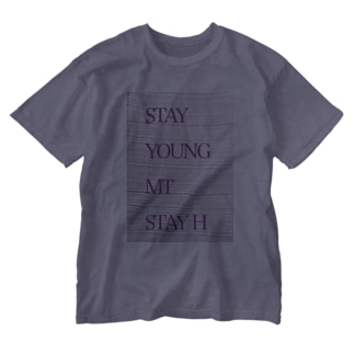 STAY YOUNG MORE THAN STAY HOME Washed T-shirts