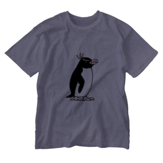 空とぶペンギン舎のマユダチペンギンA Washed T-shirts