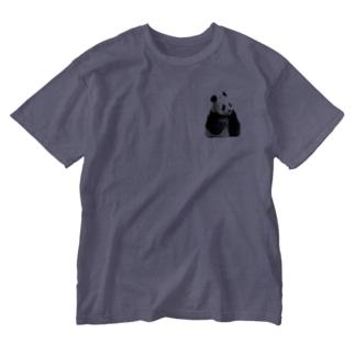 こんにちは🐼パンダ Washed T-shirts