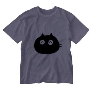 もこねこのまっくろにゃんごろー Washed T-shirts