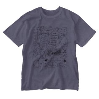 内緒ばなし Washed T-shirts