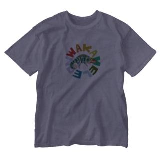 わかめれおん Washed T-shirts