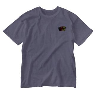 PカードT Washed T-shirts