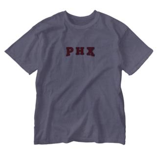 PHX(紺縁取り) Washed T-Shirt