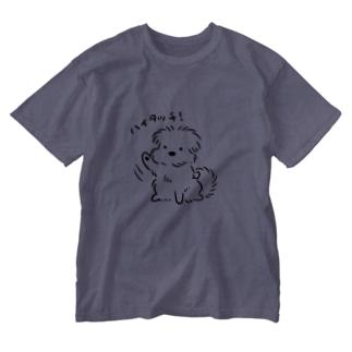 こぐま犬ハイタッチ! Washed T-shirts