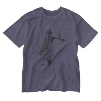木のサイボーグ Washed T-shirts