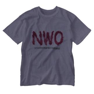NWO-ニャンコワンコオオサワギ- Washed T-shirts