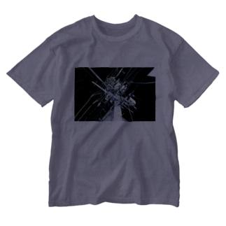 中野・夜中のいい電線 Washed T-shirts