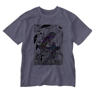 SUPER HOTDOG GIRL!の4 Washed T-shirts