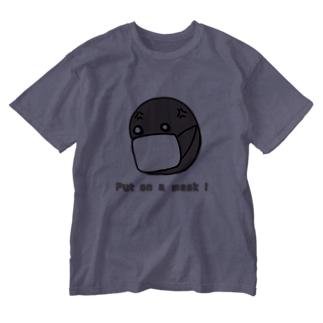 nyanchu08023の潔癖 ゾンビ マスク編 Washed T-shirts