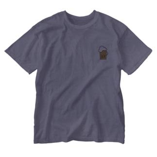 ビアー Washed T-shirts