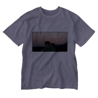 夕焼けの放課後 Washed T-shirts