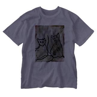 俺の猫のベンガルとサイベリアン Washed T-shirts