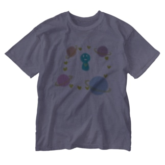 すま@ストレスマネジメントOTの惑星るーぷ Washed T-shirts