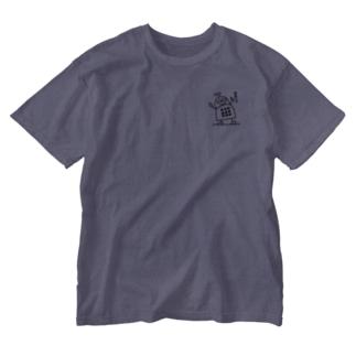 ブロックロボット・うーたーまん Washed T-shirts