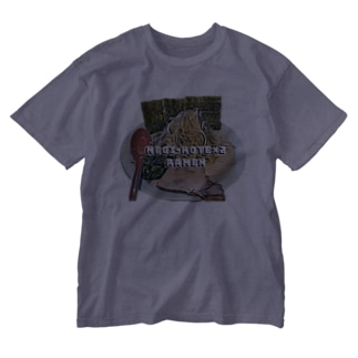 ネギラーメンコテコテ(背脂増し) Washed T-shirts
