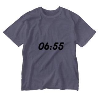 起きる時間.pptx design Washed T-shirts