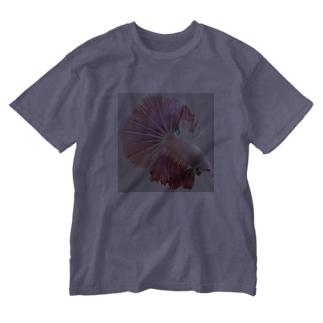 ベタPINK Washed T-shirts